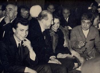 Lect. dr. Viorica Dinescu alaturi de scriitorul Aziz Nesin_Reuniune a scriitorilor din Turcia